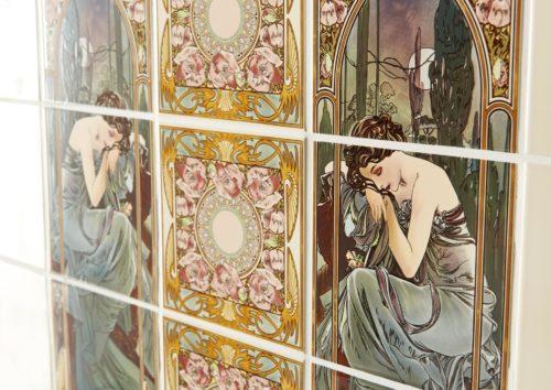 badkamer tegels mucha art nouveau jugendstil