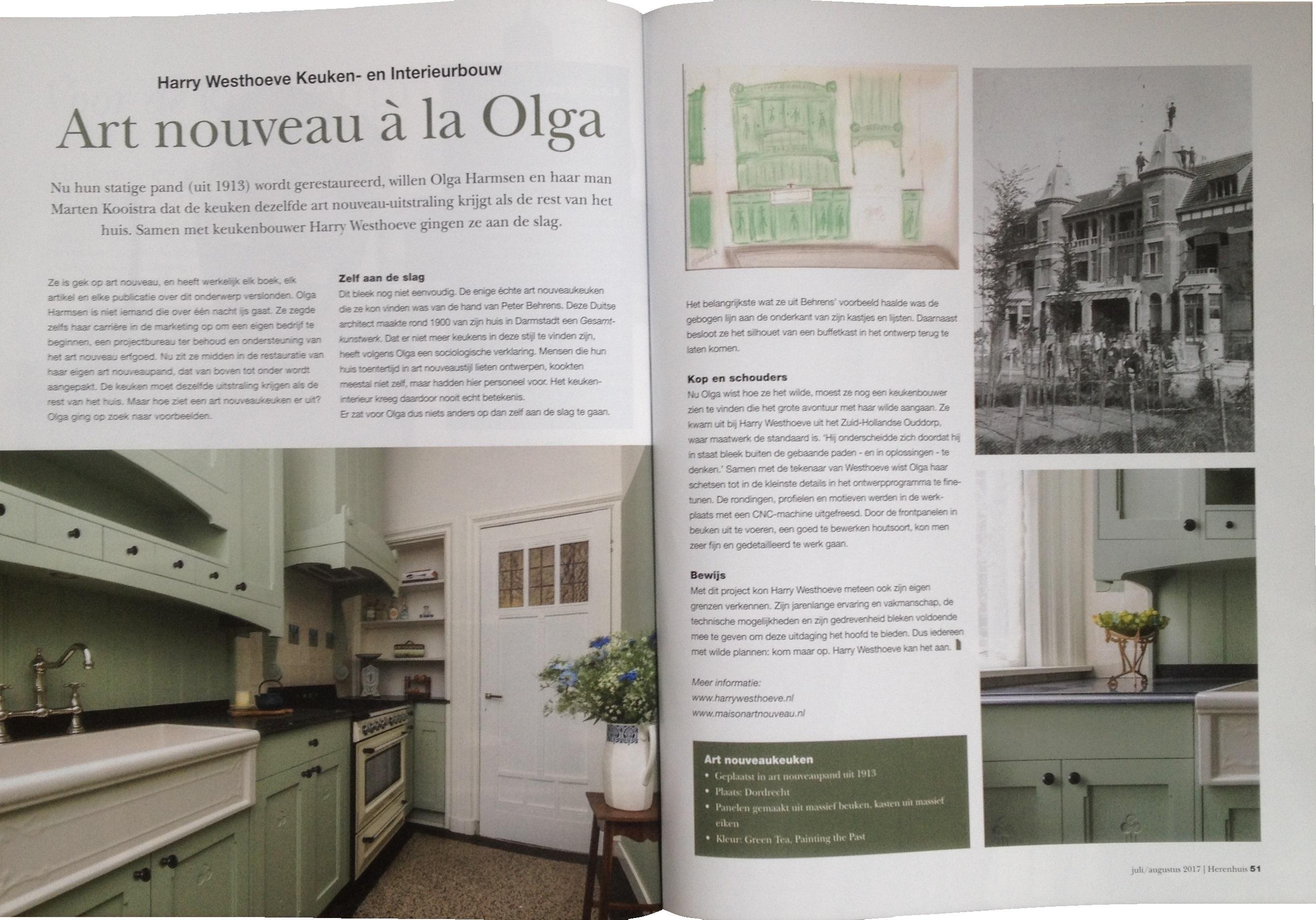 Art Nouveau keuken à la Olga in Herenhuis Magazine