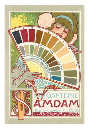 Art Nouveau kleurenpalet