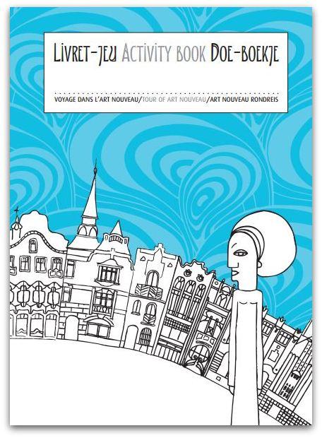 Art Nouveau rondreis, een boekje voor kinderen