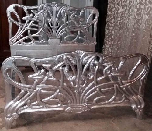 Chéri Art Nouveau bed Michelle Pfeiffer zilver silver
