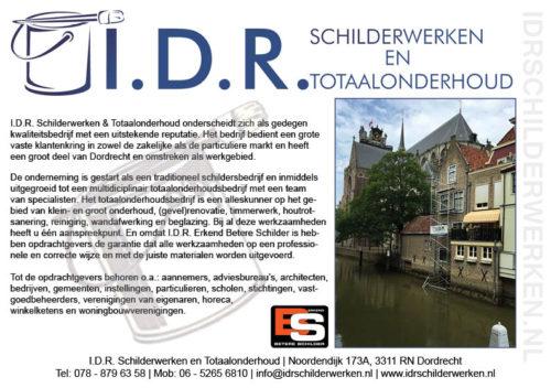A5 flyer ontworpen voor I.D.R. Schilderwerken en totaalonderhoud