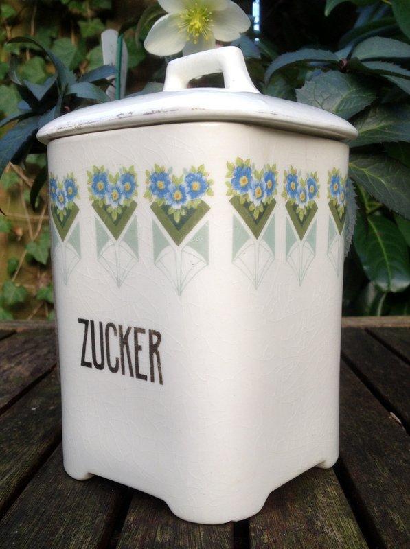 Art Nouveau Suiker Voorraadpot Zucker Jugendstil