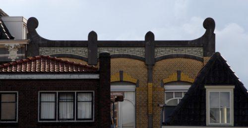 Voorstraat 180 tijdens de Art Nouveau wandeling in Dordrecht