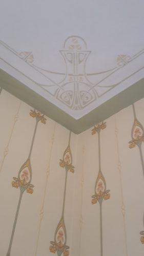 Wat onze klanten zeggen over... Duro Jugendstil behang passend bij bestaand groen plafond