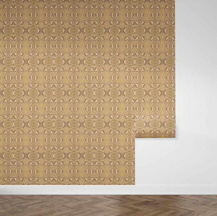 P367 promise Art Nouveau behang met klaprozen