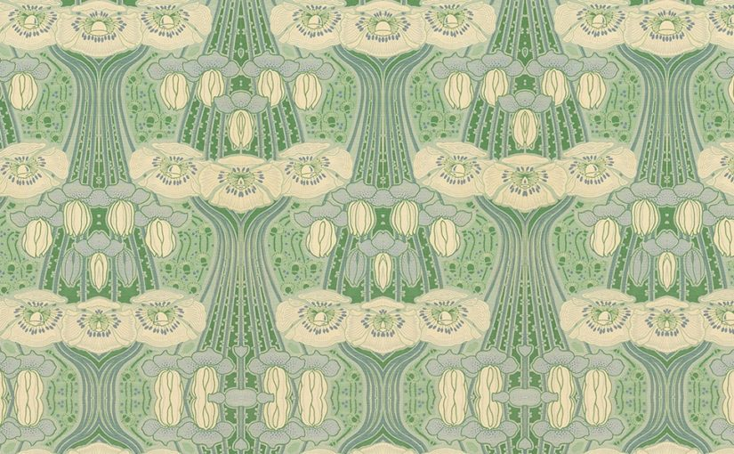 Garden of Eden naadloos Jugendstil behang