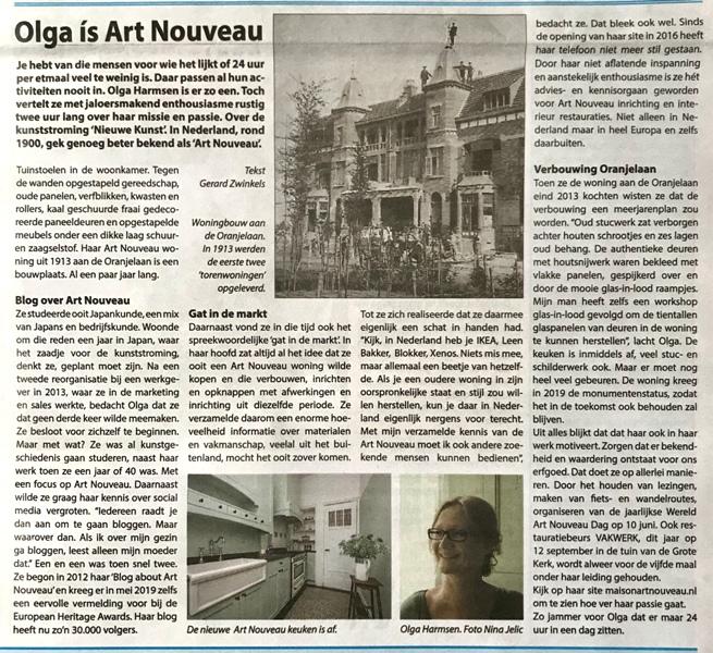 Artikel over Maison l'Art Nouveau in de Reelander-20200102