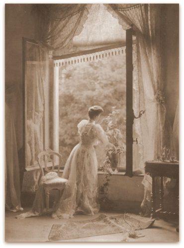 Maison l'Art Nouveau romantisch kant gordijnen vitrage schermen