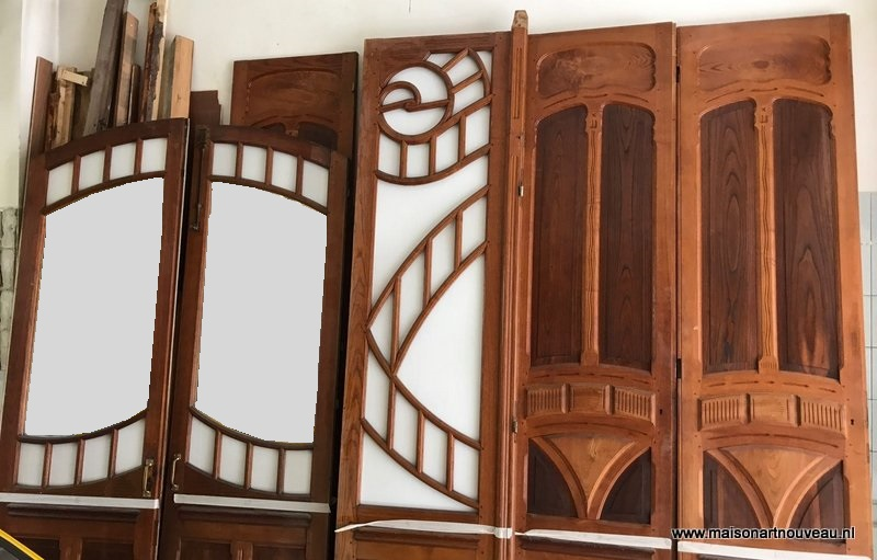 te koop art nouveau shop interior paneling for sale