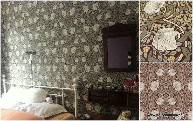 dit behang van Wallquest is gebaseerd op origineel William Morris behang