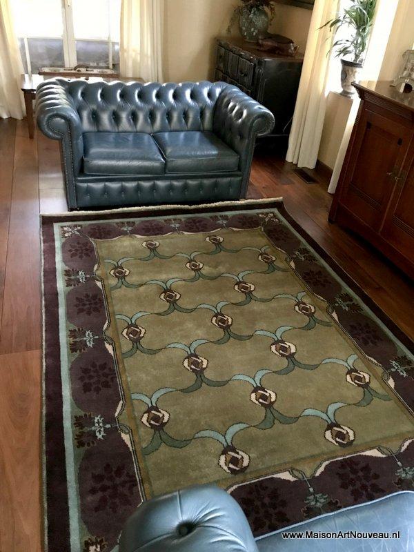 Arts & Crafts tapijt Lasenby op maat gemaakt