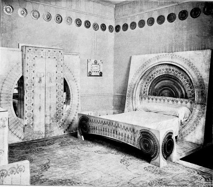 Carlo Bugatti's unique take on Art Nouveau, combining Moorish and Japanese elements into furniture designs