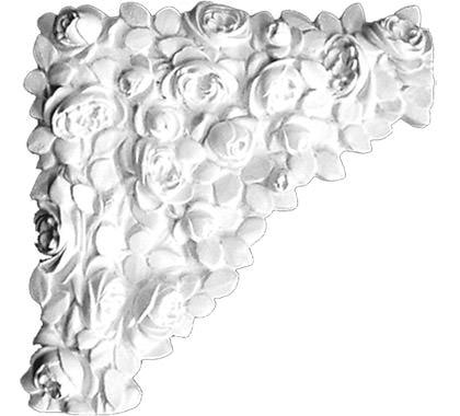 Gips Ornament Hoek-H401