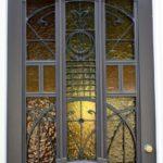 Art Nouveau Smeedijzeren deurrooster