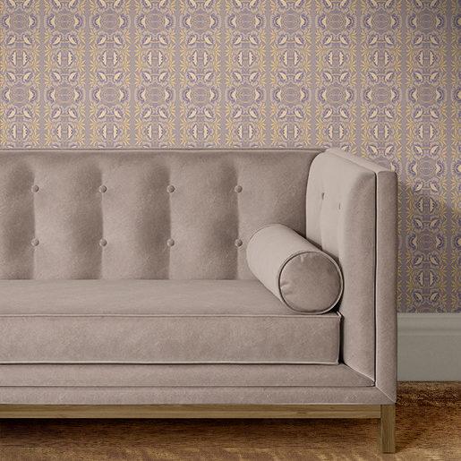 P368 Alida Art Nouveau behang in een kamer