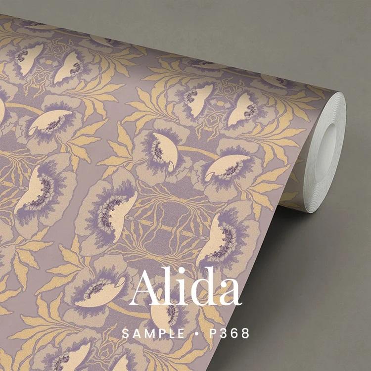 P368 Alida wallpaper met anemonen