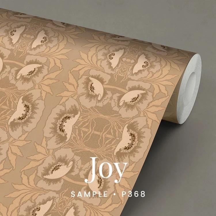 P368 Joy zalmkleur jugendstil behang