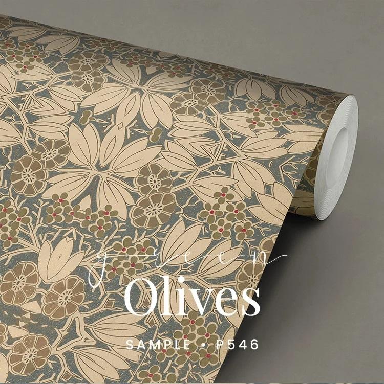 P546 Green Olives wallpaper