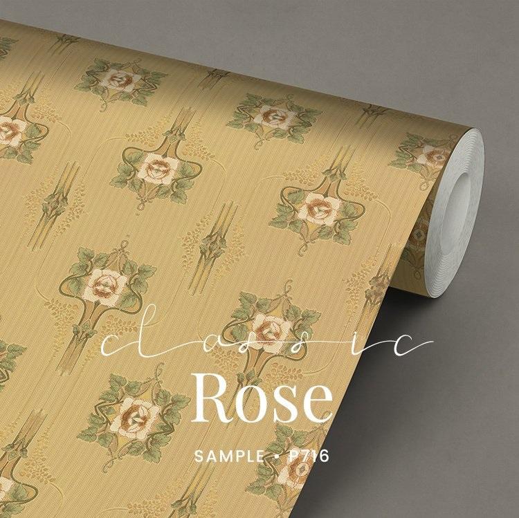 P716 Classic Rose Jugendstil behang